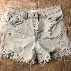 Zara Blue Jean Shorts
